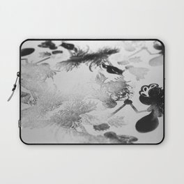 black and white floc Laptop Sleeve