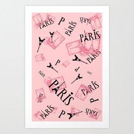 Postcard - Paris Art Print