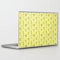 digimon Laptop & iPad Skins featuring Leafmon and Roses by Kiriska