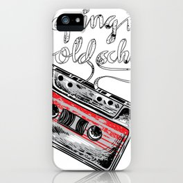 Keeping it old school boombox tape 80s music shirt iPhone Case