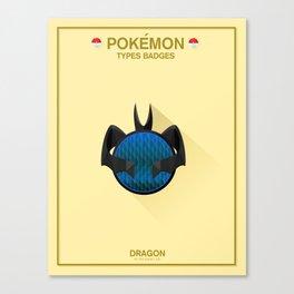 Pokémon Types Badges: Dragon Type Canvas Print