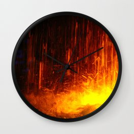 The light show missed with a water fountain Wall Clock