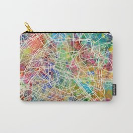 Paris France Street Map Carry-All Pouch
