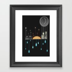 Holding Up With Drops Of Water Framed Art Print