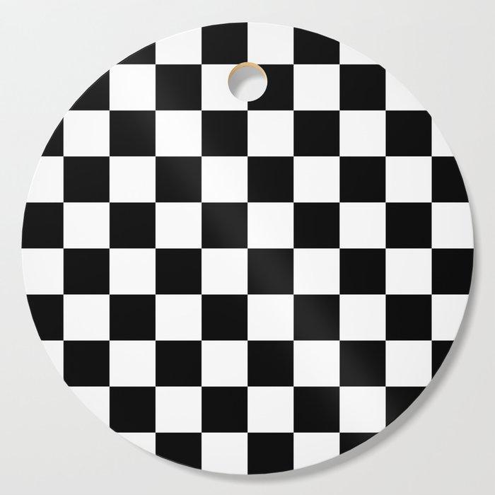 Black White Checker Checkerboard Checkers Cutting Board