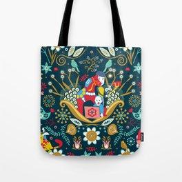Technological folk art Tote Bag