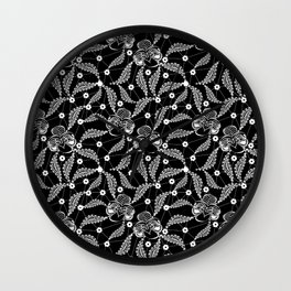 White vintage lace . Wall Clock