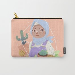 Girl and her Cactus Carry-All Pouch