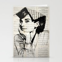 audrey Stationery Cards featuring Audrey by Krzyzanowski Art