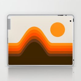 Golden Horizon Diptych - Left Side Laptop & iPad Skin