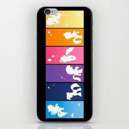 Rainbow Ponies iPhone Skin