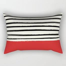 Red Chili x Stripes Rectangular Pillow