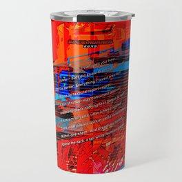 Cells Interlinked - Bold Red and Blue Travel Mug