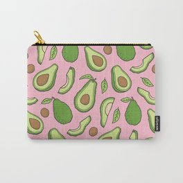 Avocado on Pink Carry-All Pouch