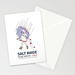 Pure White Salt Mage Stationery Cards