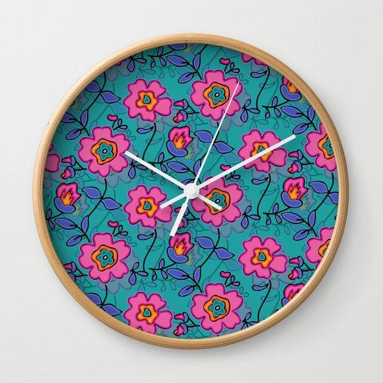 Flower 41 Wall Clock