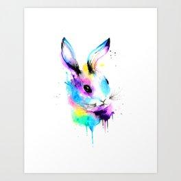 Rainbow Bun Bun Art Print