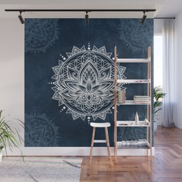 Lotus Mandala (white) Wall Mural