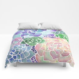 Masked Flora Collection Succulents Comforters