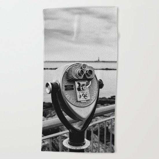 Looking At Lady Liberty Beach Towel