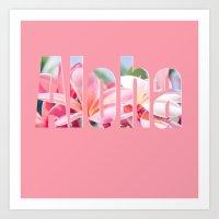 aloha Art Prints featuring Aloha by Sharon Mau