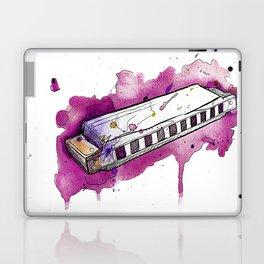 Watercolor Harmonica (Magenta) Laptop & iPad Skin