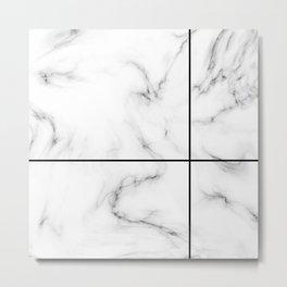 Marble Cross Metal Print