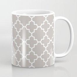 Classic Quatrefoil pattern, warm grey Coffee Mug