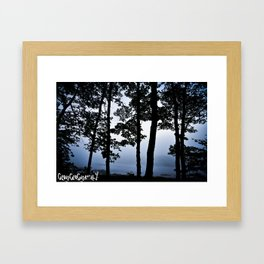 Lets Stay Up All Night And Watch The Sun Rise, Then Forget It Ever Existed Framed Art Print