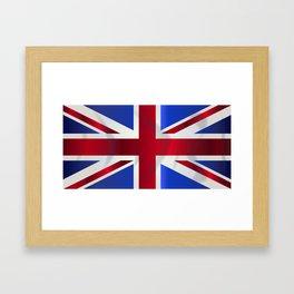 Union Jack Flag Framed Art Print