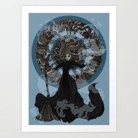 "discworld Art Prints featuring Eskarina  by Barbora ""Mad Alice"" Urbankova"