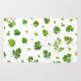 Herbs on White - Landscape Rug