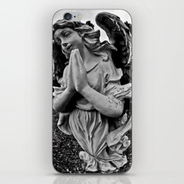 Praying angel iPhone Skin