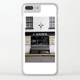 Store Front From the Past Clear iPhone Case
