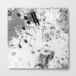Musical Atmosphere Metal Print