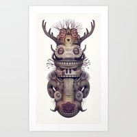totem Art Prints featuring Totem by Diligence