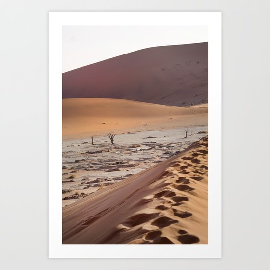 Leave only foortprints Art Print