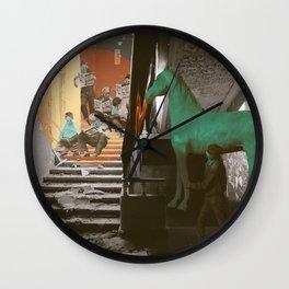 Green horse Wall Clock