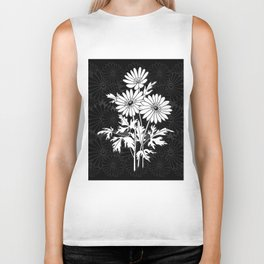 Abstract floral branch Biker Tank