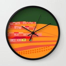 Nightime Village Wall Clock
