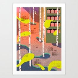 calendar 2019 Art Print