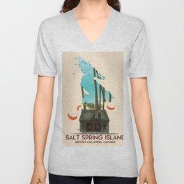 Salt Spring Island Canada Unisex V-Neck