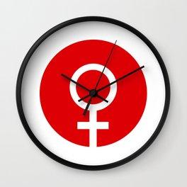 Female Symbol Wall Clock