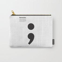 Semicolon Carry-All Pouch