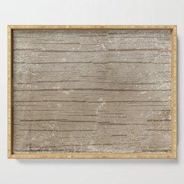 Nautical Driftwood Wood Grain Pattern Serving Tray