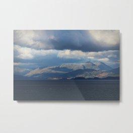 Stormy sky, Sound of Mull, Scotland Metal Print
