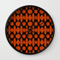 asia Wall Clocks featuring Asia  by Robleedesigns