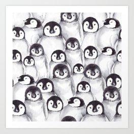Penguin pattern Art Print