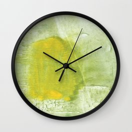 Green abstract aquarelle painting Wall Clock