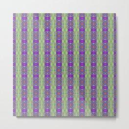 Designer Quilted Stripes Metal Print